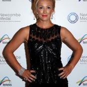 Anastasia Rodionova arrives prior to the 2013 Newcombe Medal at Crown Palladium on December 2, 2013 in Melbourne, Australia.  (Photo by Robert Prezioso/Getty Images)