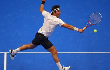 Pat Cash of Australia plays a volley. GETTY IMAGES