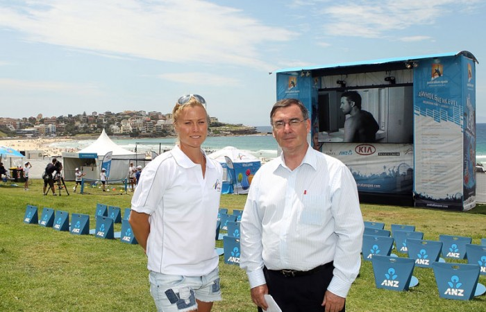 Jaslyn Hewitt and Glenn Tasker at Bondi Live Site.
