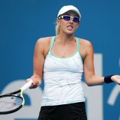 Aussie Anastastia Rodionova had no answers in her first-round straight-sets loss to eighth-seed Na Li.