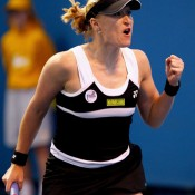 You can tell Elena Baltacha really means this vein-popping fist clencher.