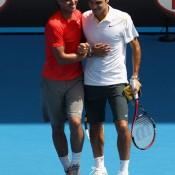 Rafael Nadal and Roger Federer make the ultimate doubles dream team.