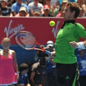 Brit Andy Murray shows his soccer skills.