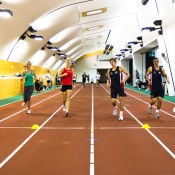 AIS athletes undertaking a beep test. Tennis Australia.