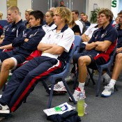 The tennis class of 2011 is formally inducted into the Australian Institute of Sport in Canberra. Photo: Tennis Australia