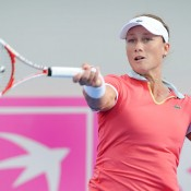 Sam Stosur hits a forehand. AFP