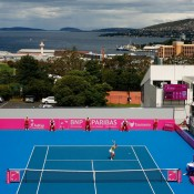 Hobart's Domain Tennis Centre. Getty Images