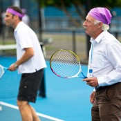 17th of March 2011. Ian Barclay enjoys a Hot Shots session at the Australian Tennis Conference. Tennis Australia.