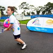 25th of March 2011. Hot shots players at the launch of the next phase of Melbourne Park redevelopment. Tennis Australia.