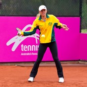 13th of April 2011. Anastasia Rodionova at practice ahead of the Australia v Ukraine Federation Cup tie. Mark Riedy.