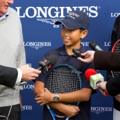 10th of May 2011. Chase Ferguson at the Longines Future Tennis Aces launch. Mark Riedy.