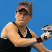 Daniela Di Toro in action during the 2011 Australian Open. Getty Images