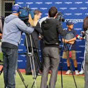 10th of May 2011. Media gather to photograph Chase Ferguson at the Longines Future Tennis Aces launch. Mark Riedy.