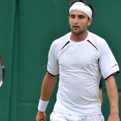 After fighting his way through qualifying, it was a disappointed Marinko Matosevic who bowed out in the opening round of the singles main draw. AFP