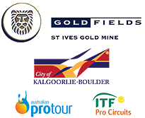 Gold Fields St Ives Tennis International logos