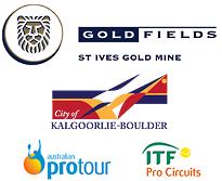 Gold Fields St Ives Tennis International logos