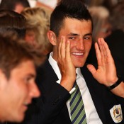 Bernard Tomic at the team dinner. GETTY IMAGES