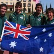 Australia's Junior Davis Cup team flies the flag in San Luis Potosi, Mexico. GEORGE KYRGIOS