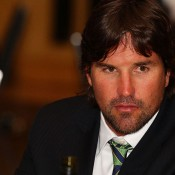 Pat Rafter at the team dinner. GETTY IMAGES