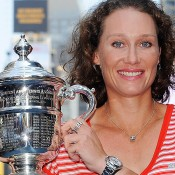 US Open Champion Sam Stosur in Times Square. Getty Images