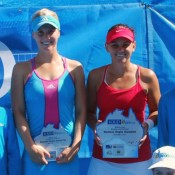 Isabella Holland and Casey Dellacqua. TENNIS AUSTRALIA