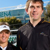 Anja Dokic and Joe McCarthy, Melbourne, 2011. TENNIS AUSTRALIA