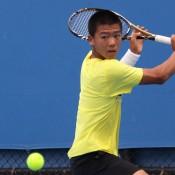 Li Tu prepares to hit a backhand. IAIN MORTON