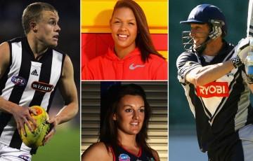 Tarkyn Lockyer, Liz Cambage, Bianca Chatfield and David Hussey. GETTY IMAGES