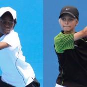 Benard Nkomba and Kody Pearson. IAIN MORTON