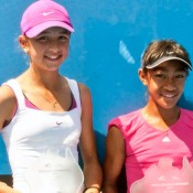 Petra Hule (left) and Destanee Aiava. MICHAEL ROCHE