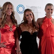 Olivia Rogowska, Sally Peers and Isabella Holland on the blue carpet at the 2011 Newcombe Medal, Australian Tennis Awards. BECKA HUSSEY