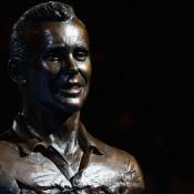 A bronze bust of Ken Fletcher, Melbourne, 2012. GETTY IMAGES