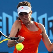 Bojana Bobusic was defeated by 30th seed Angelique Kerber. GETTY IMAGES