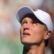 Greg Jones pushed 2011 quarterfinalist and 13th seed Alexandr Dolgopolov to five sets. AFP