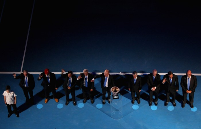Living legends at the Australian Open. GETTY IMAGES