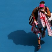 Sam Stosur was a shock first-round casualty, falling to Romania's Sorana Cirstea. GETTY IMAGES