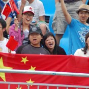 Chinese fans show support at the Davis Cup Asia Oceania Zone One tie between Australia and China: Kim Trengove