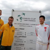 Chris Guccione and Lleyton Hewitt with Li Zhe and Zhang Ze: Tennis Australia