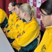 The Australian team at their press conference. (freshfocus)