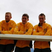 The Australian Davis Cup team at the official draw ceremony in Ocean Grove: Tennis Australia