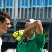 Bernard Tomic and Matt Ebden play doubles: Tennis Australia