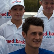 Bernard Tomic is announced as the ambassador for the Medibank Junior Development Series: Tennis Australia
