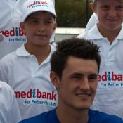 Bernard Tomic is announced as the ambassador for the Medibank Junior Development Series: Tennis Australia