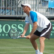 Chris Guccione at Davis Cup practice: Tennis Australia
