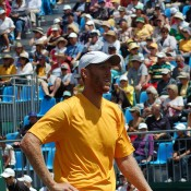 Chris Guccione at the Davis Cup tie in Geelong: Kim Trengove