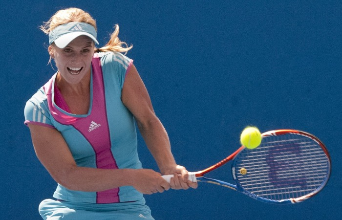 Isabella Holland at the Australian Open 2012 Playoff; Mae Dumrigue