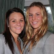 Casey Dellacqua (L) and Olivia Rogowska; Tennis Australia