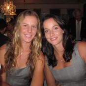 Olivia Rogowska (L) and Jarmila Gajdosova; Tennis Australia