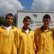 The Australian Davis Cup team at Lone Pine Koala Sanctuary Brisbane: Kim Trengove/Tennis Australia