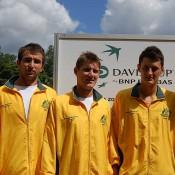 The Australian Davis Cup team at Lone Pine Koala Sanctuary Brisbane: Kim Trengove/Tennis Australia